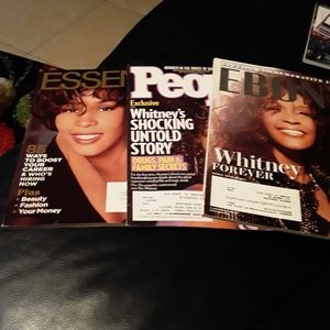 3 Cover Magazines WHITNEY HOUSTON